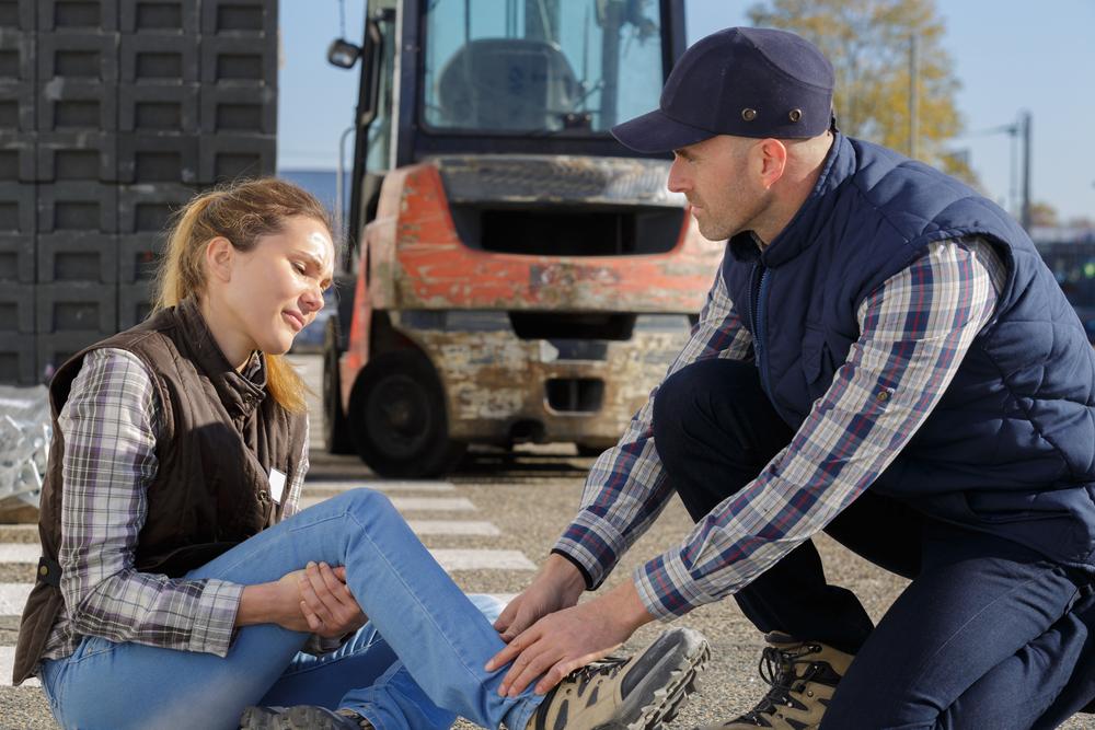 female work vehicle accident